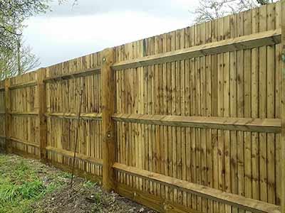 Close board fence