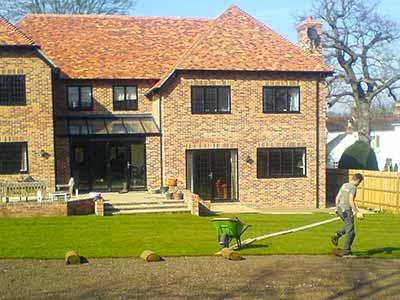 Frank laying lawn